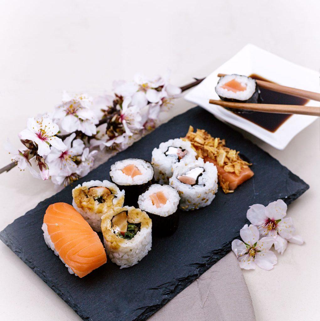 Sushi pizarra